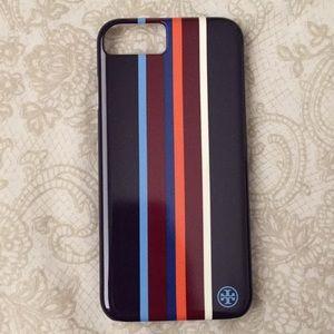 BRAND NEW! Tory Burch Striped IPhone 7 Case!